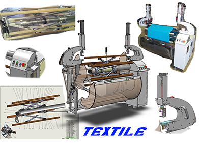 Machine textile ODEA conçu par le bureau d'étude PEM à Valence (Drôme)