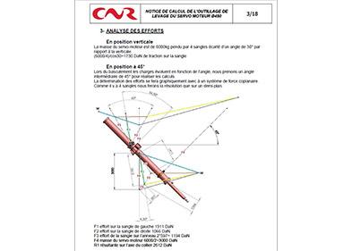 Analyse des efforts dont la documentation est réalisé par PEM (Valence - Drôme)